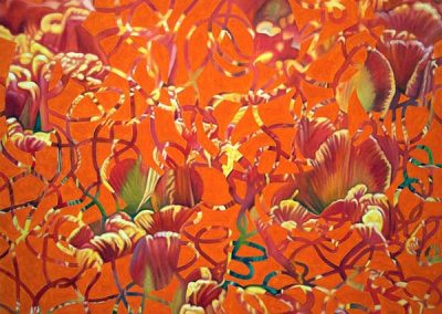 Gallery of Fine Contemporary Art - abstract painting of Banja Luka tulips by John Gentile