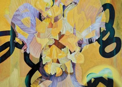 Gallery of Fine Contemporary Art - abstract painting of bearded irises