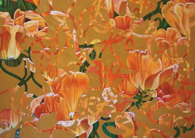 Gallery of Fine Art - abstract painting of flowers by John Gentile