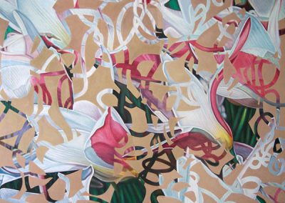 Gallery of Fine Art - abstract painting of Clusiana Ladyjane flowers by John Gentile