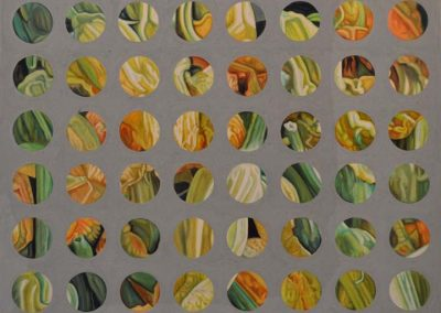 Gallery of Fine Contemporary Art - abstract painting of Zucchini flowers by John Gentile