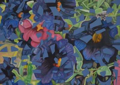 Gallery of Fine Art - abstract landscape painting of flowers by John Gentile