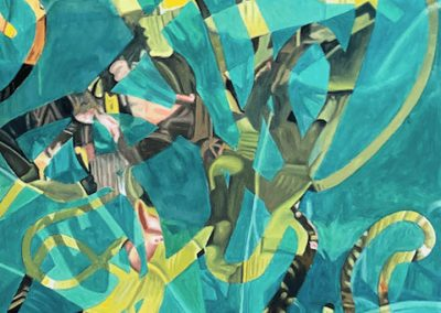 Gallery of Fine Contemporary Art - abstract painting of a Palmetto